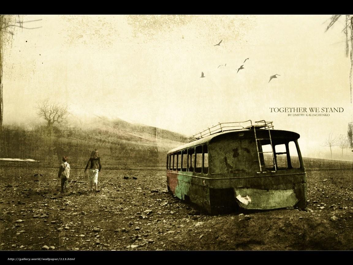 сила духа, потертость, старость, ржавый автобус