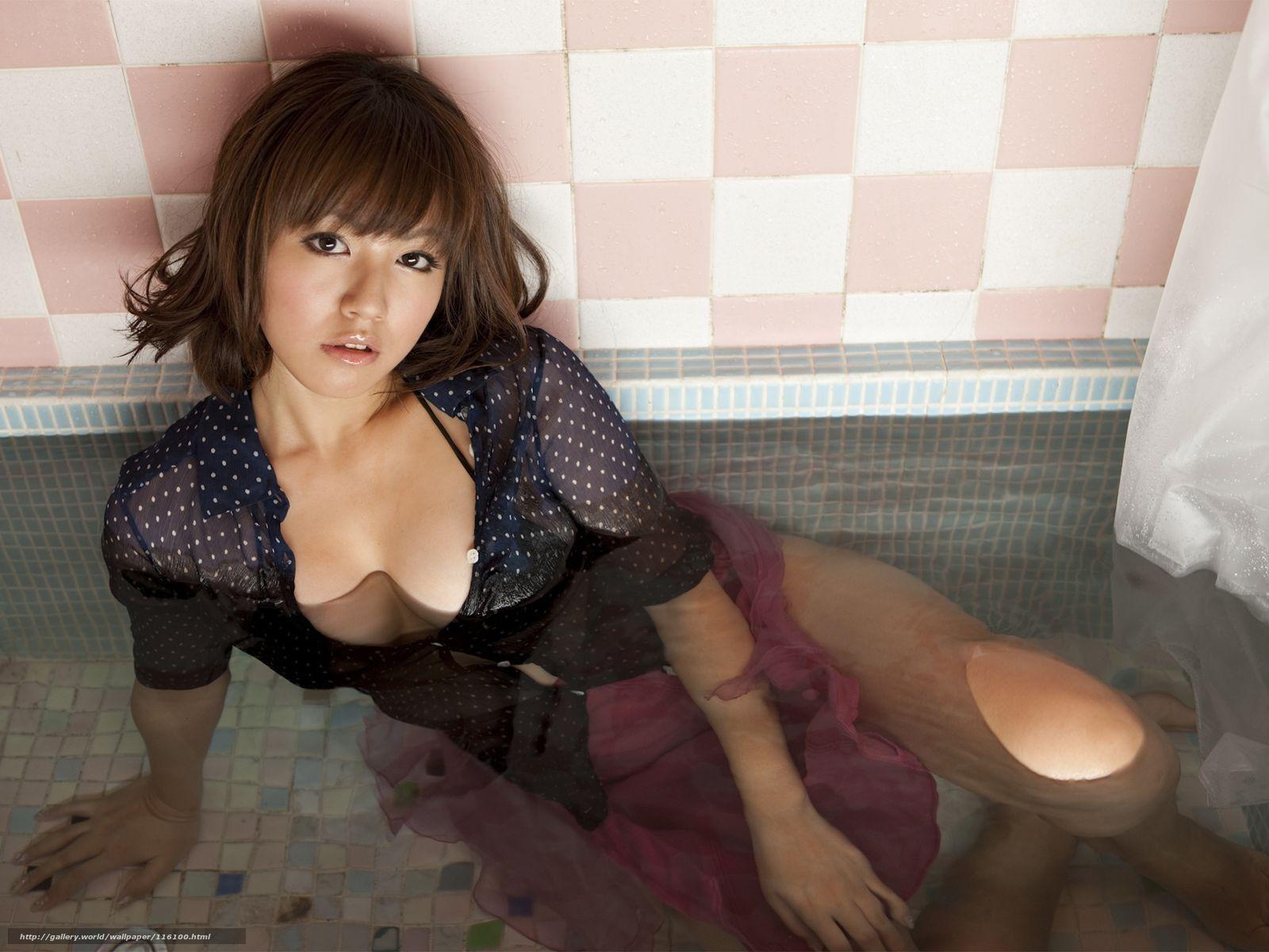 Японки в мокрой одежде фото 15 фотография