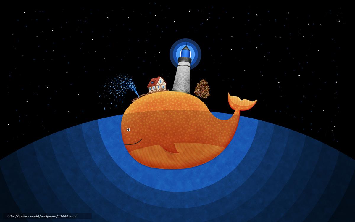 рисунок кита:
