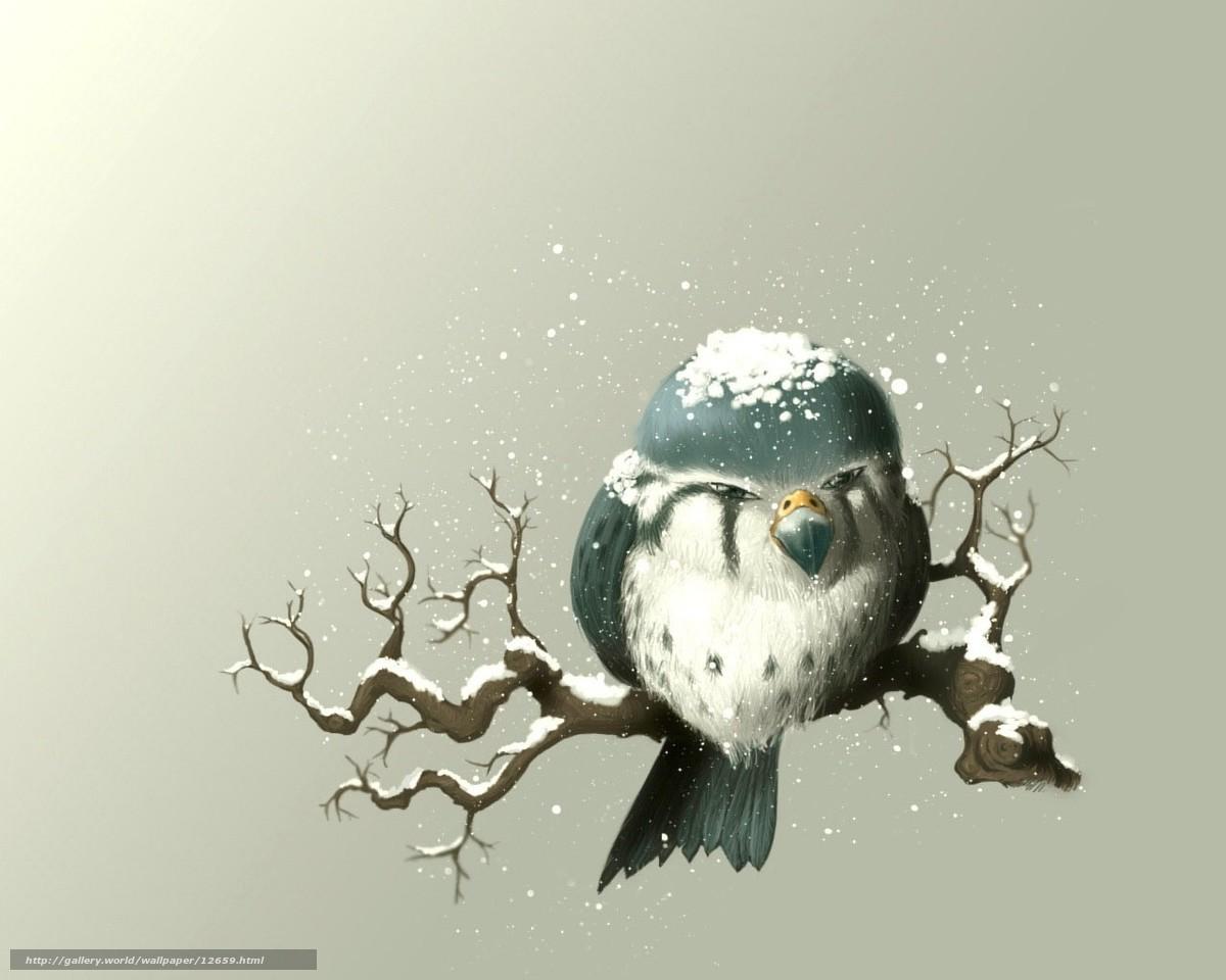 Снегирь ветка рисунок