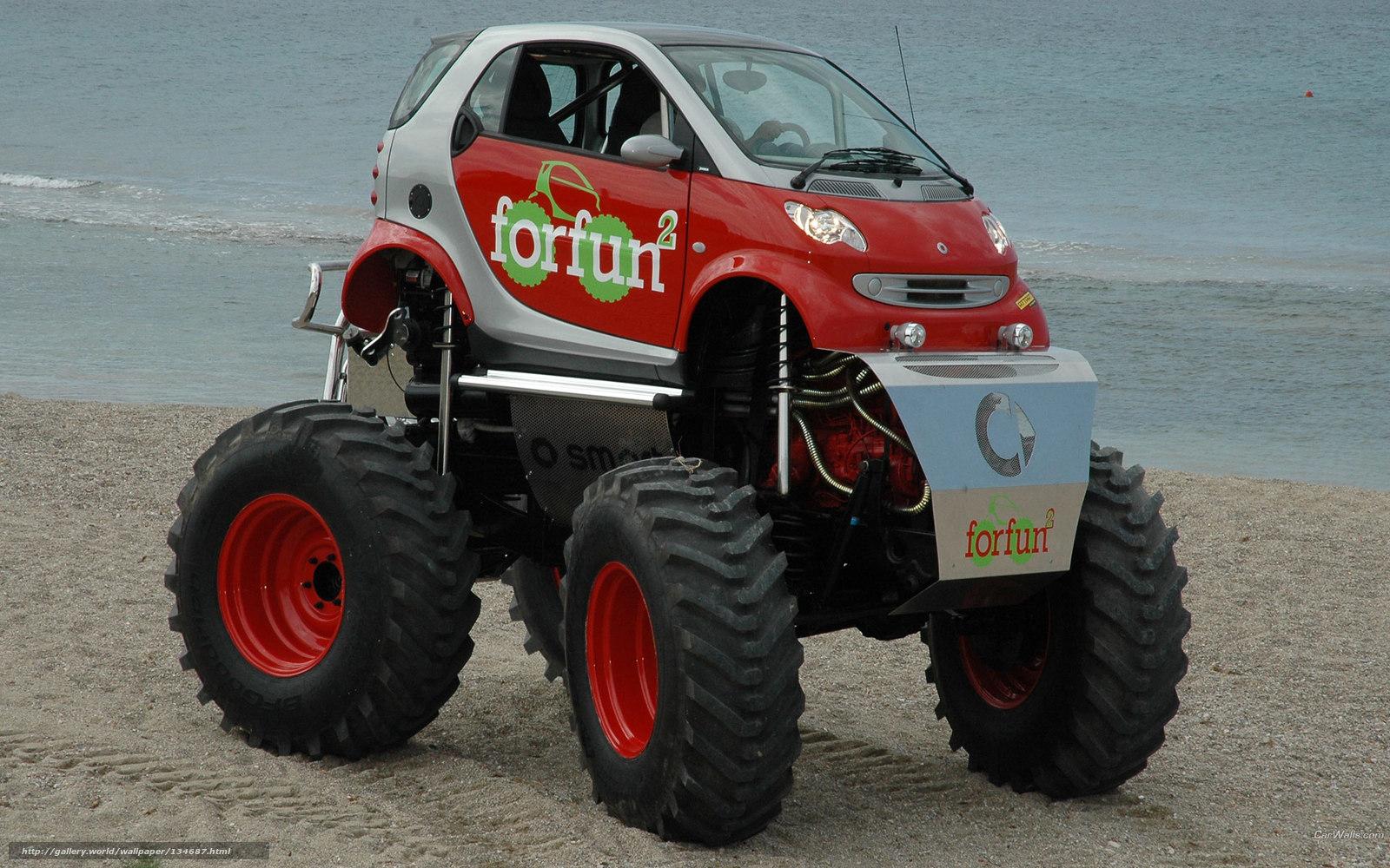 Как сделать фото машины с большими колесами