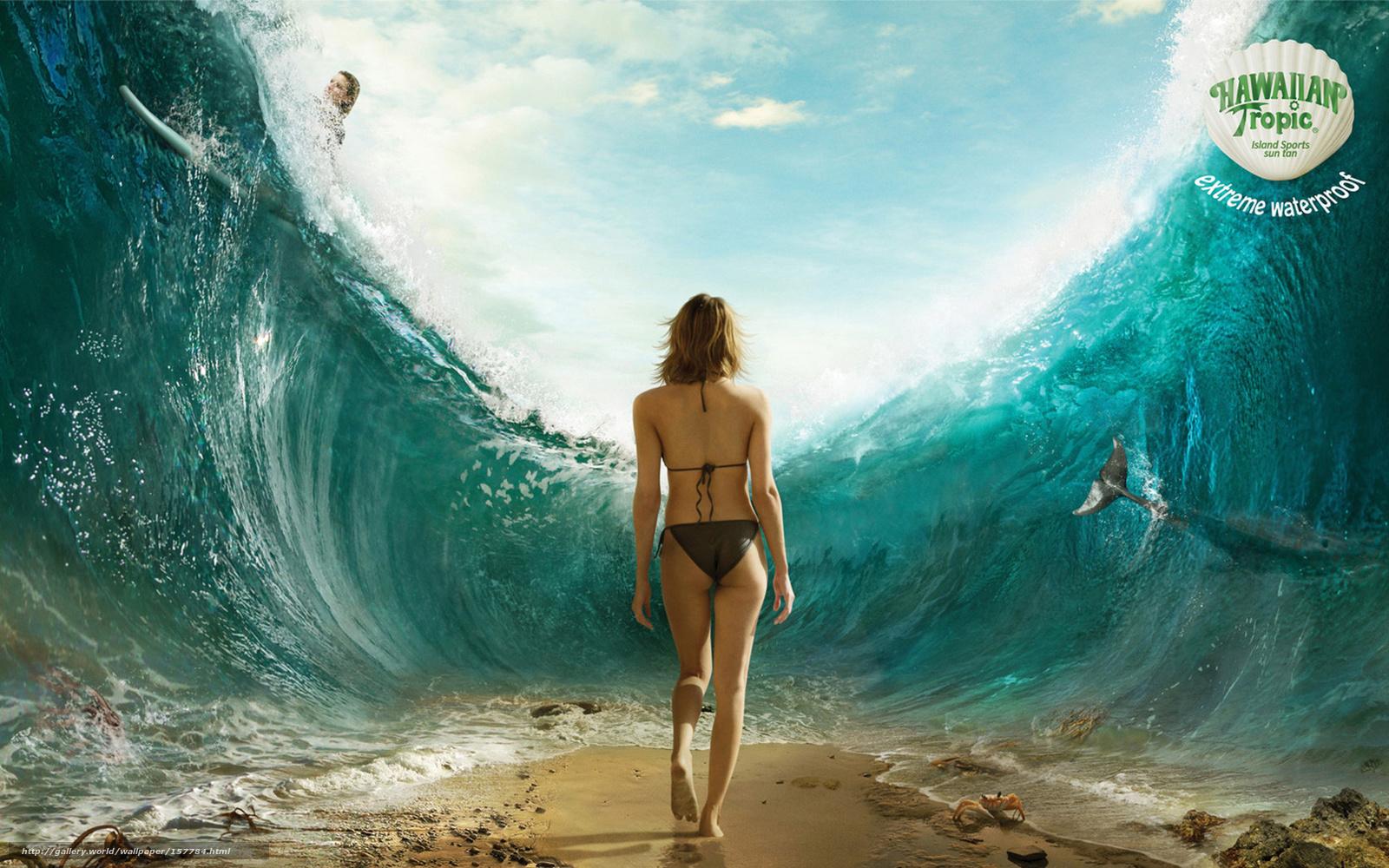 Фото девушек со спины на фоне океана 22 фотография