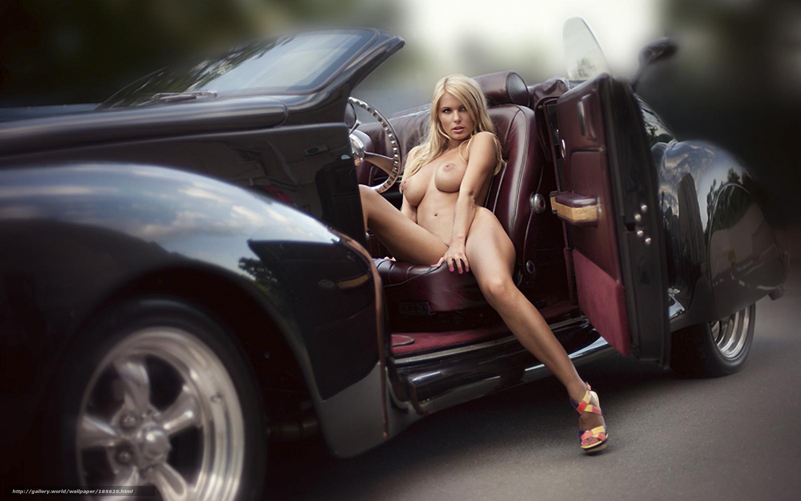 Секси красотки и авто фото 15 фотография