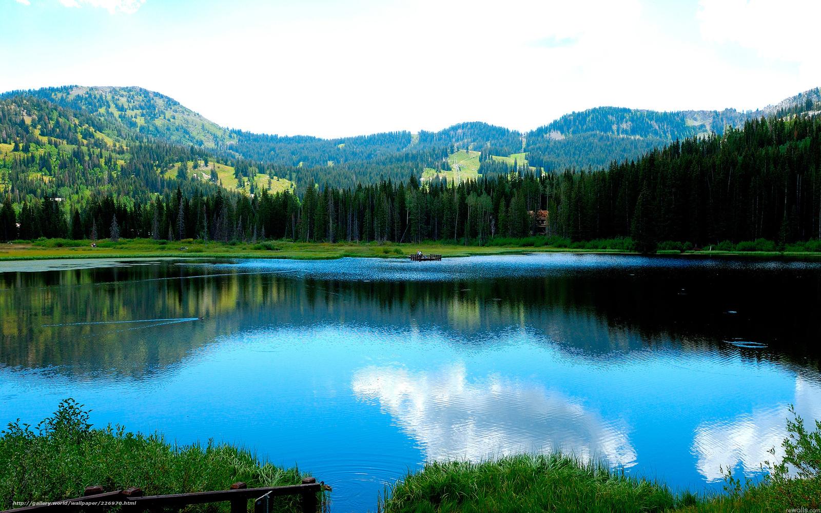 обои озеро:
