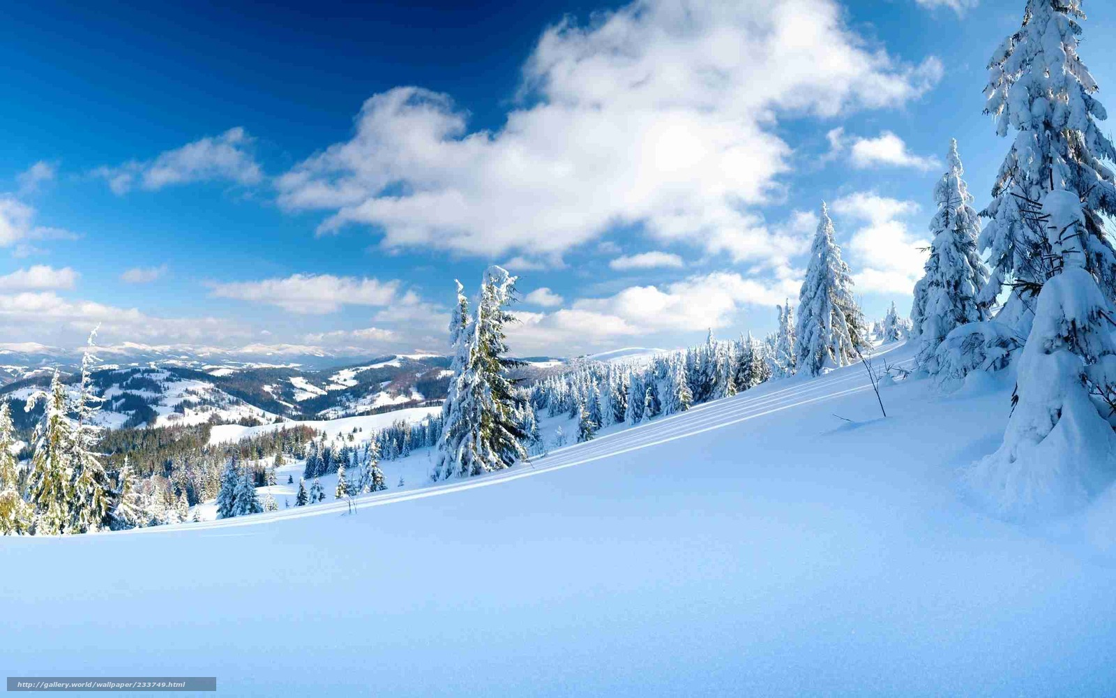 пейзажи, склоны, природа, фото, облака, снег, зимние обои, зима ...