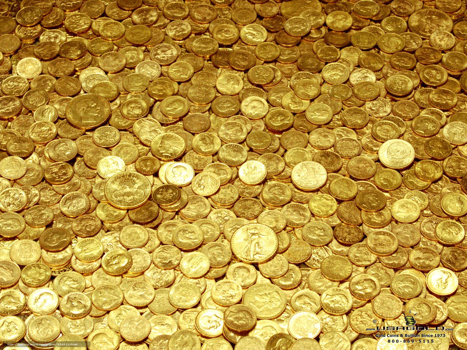 Монеты деньги доллары золотые