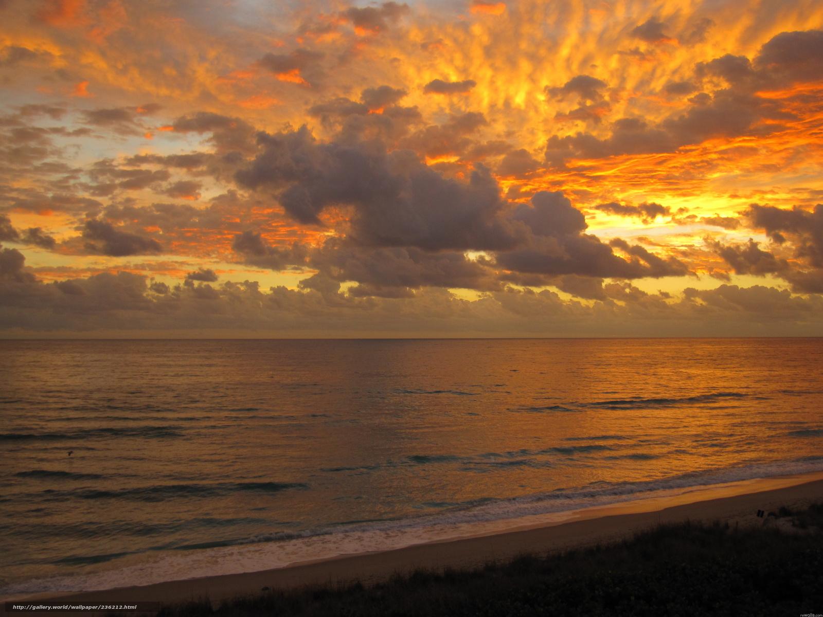 Красивый вид берег небо вечер