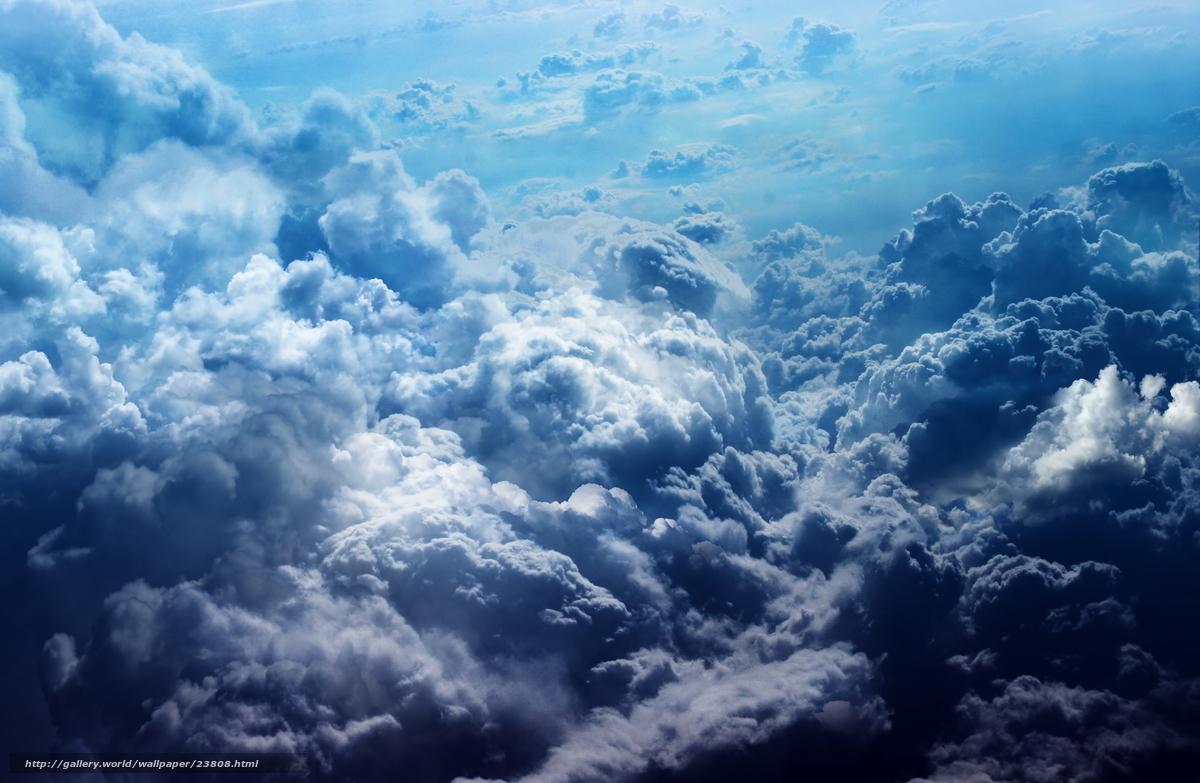 Небо облака цвет небеса голубой