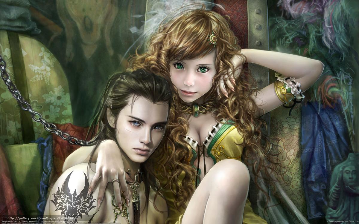 Фото красавицы вампирши 1 фотография
