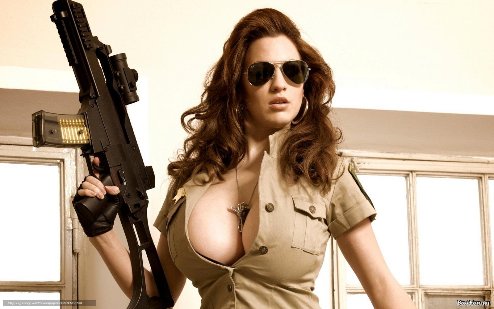Секси девушки с оружием фото 24 фотография