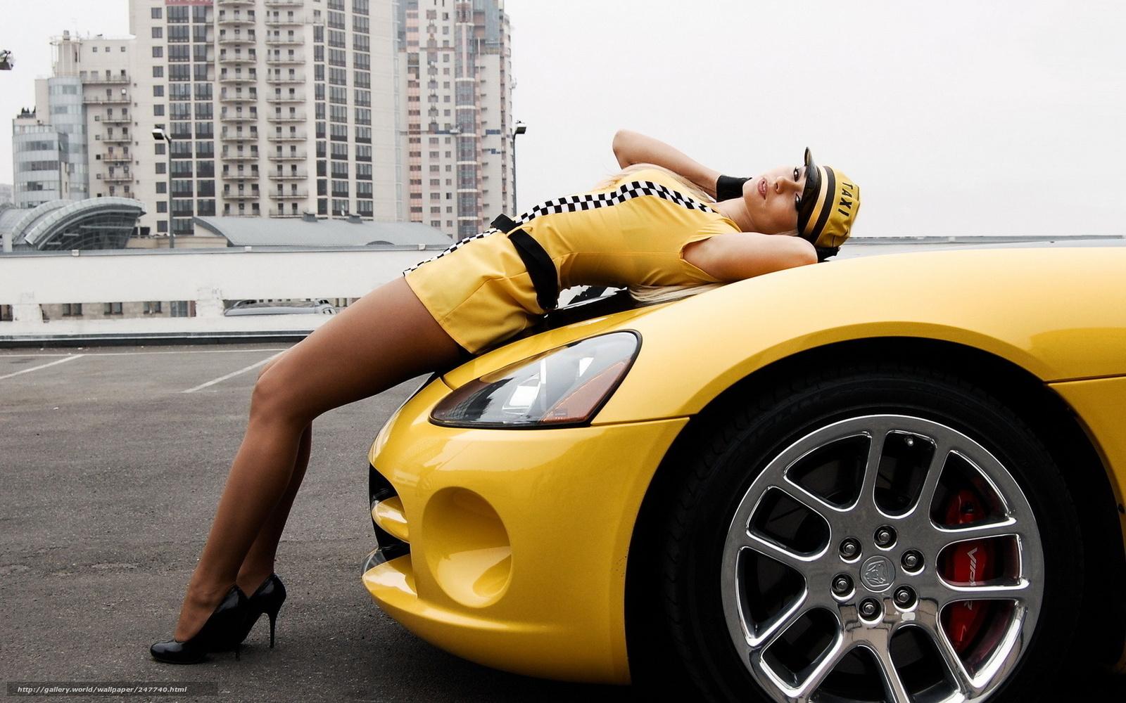 Dodge viper авто мото такси taxi девушка