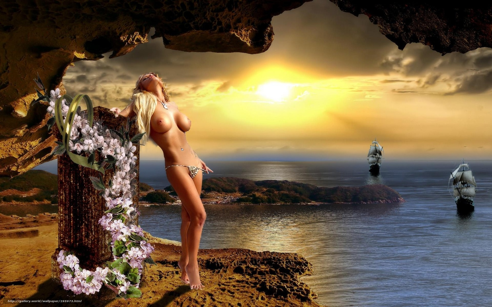 Эротика на фоне пейзажей 16 фотография