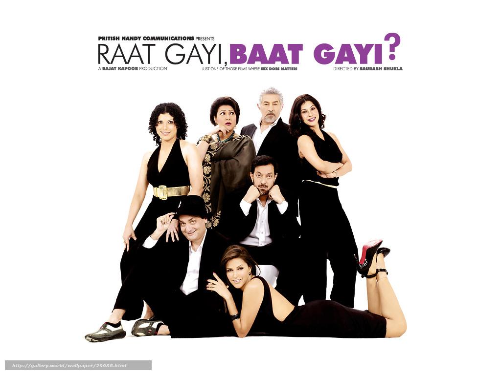 Обои на рабочий стол фильмы:с глаз - долой, из сердца - вон?, raat gayi baat gayi, фильм, кино - скачать бесплатно
