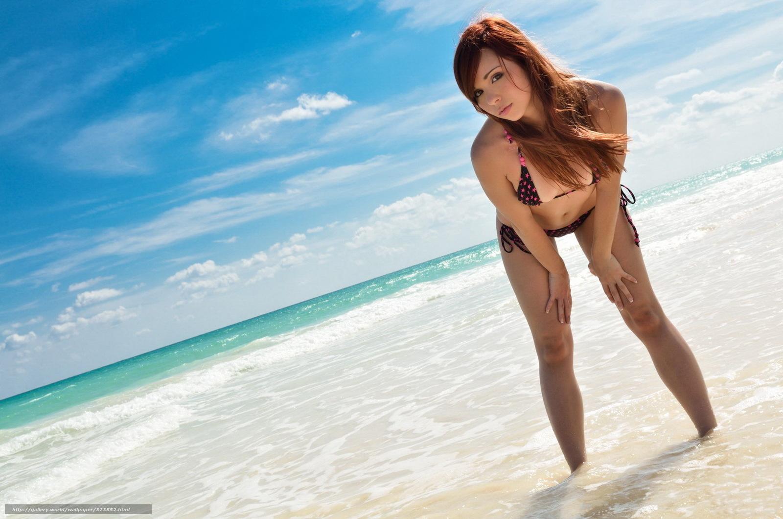 Фотографии рыжих девушек у моря 15 фотография