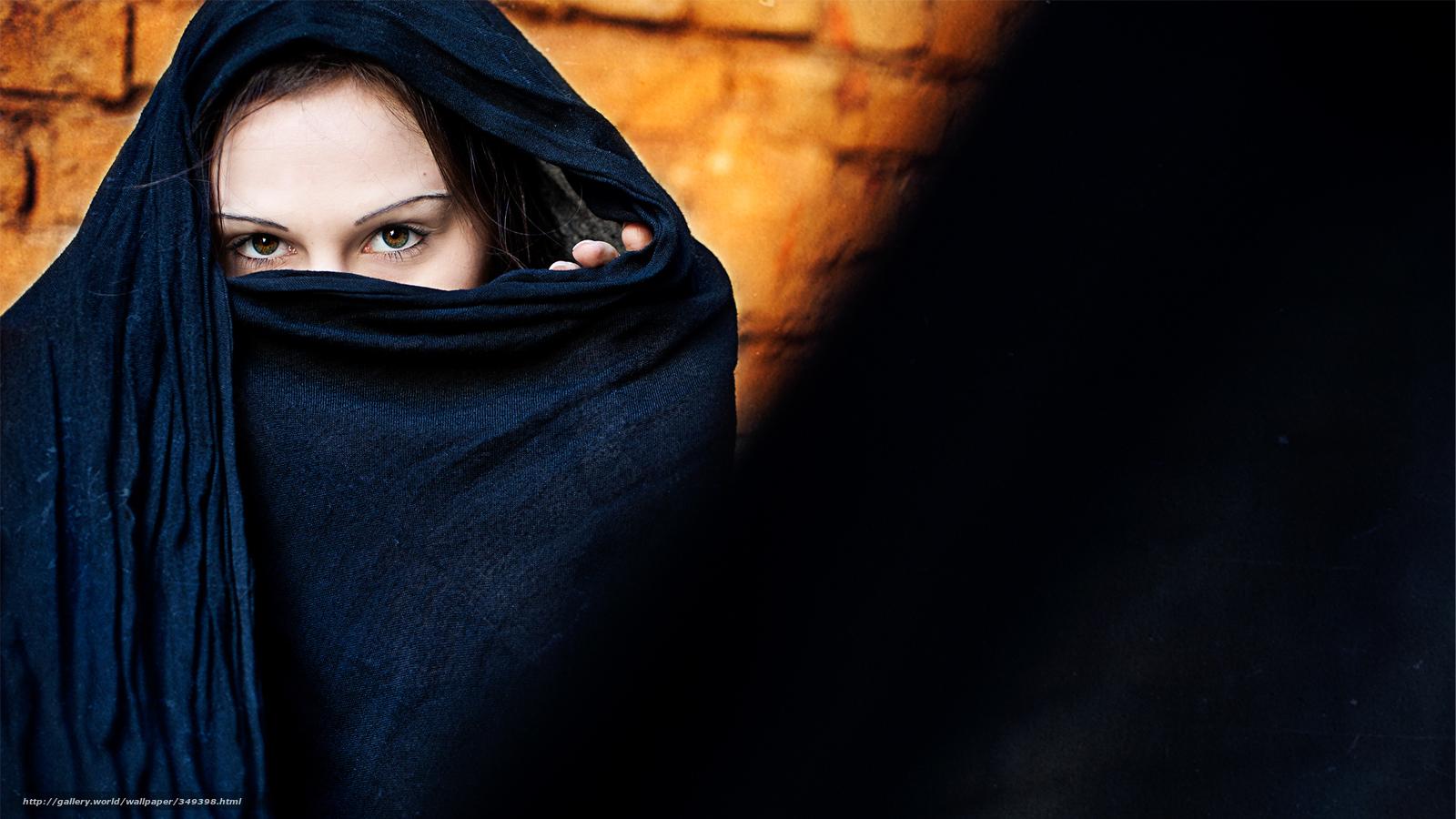 Арабская девушка в парандже фото