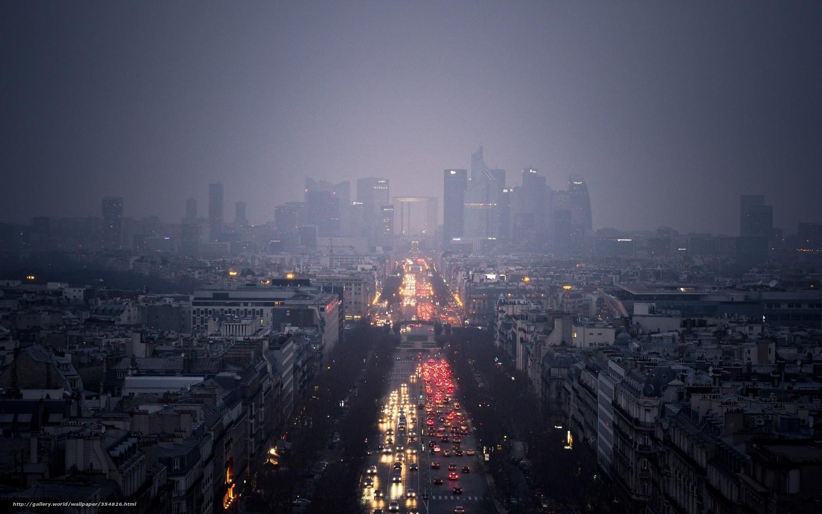 Город огни красные машины здания