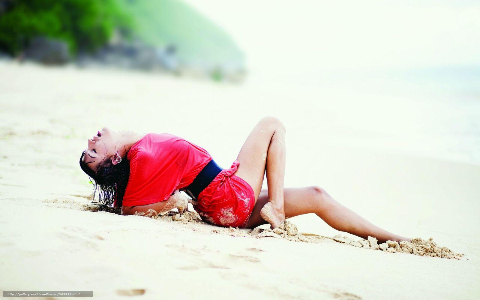 Солнце пляж девушки 1 фотография