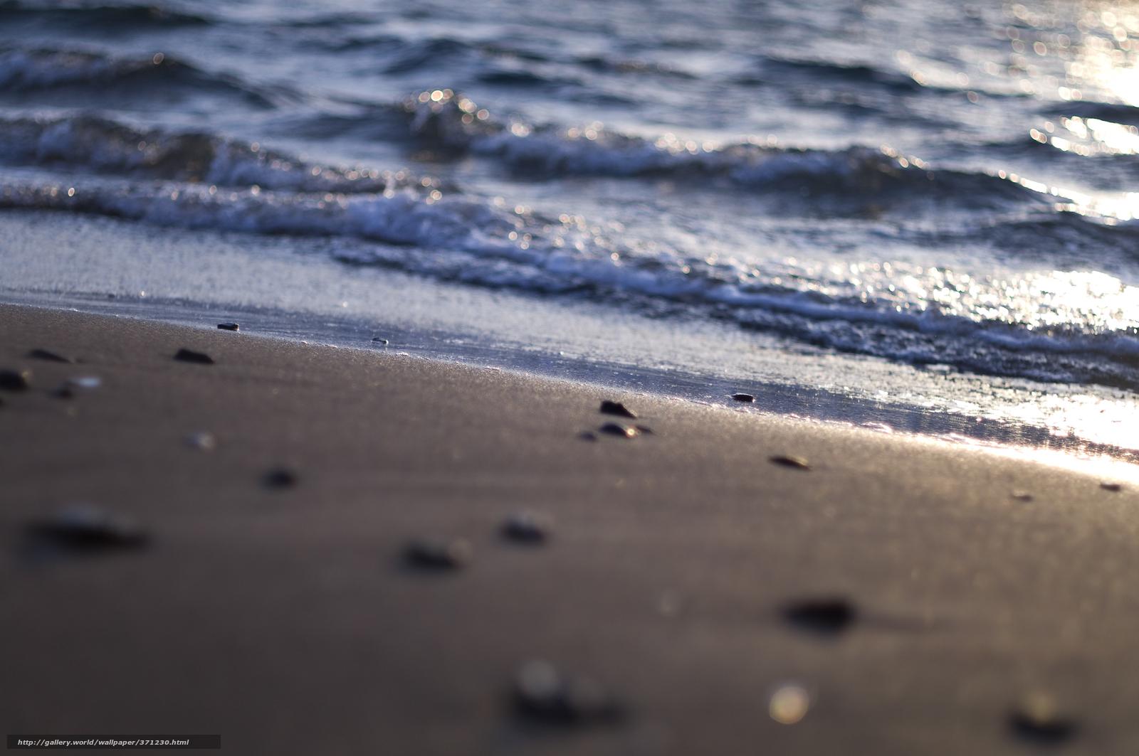 Море берег пляж песок блеск свет