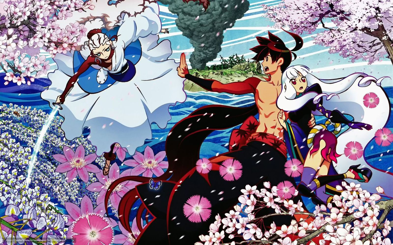 аниме девушки боевые картинки:
