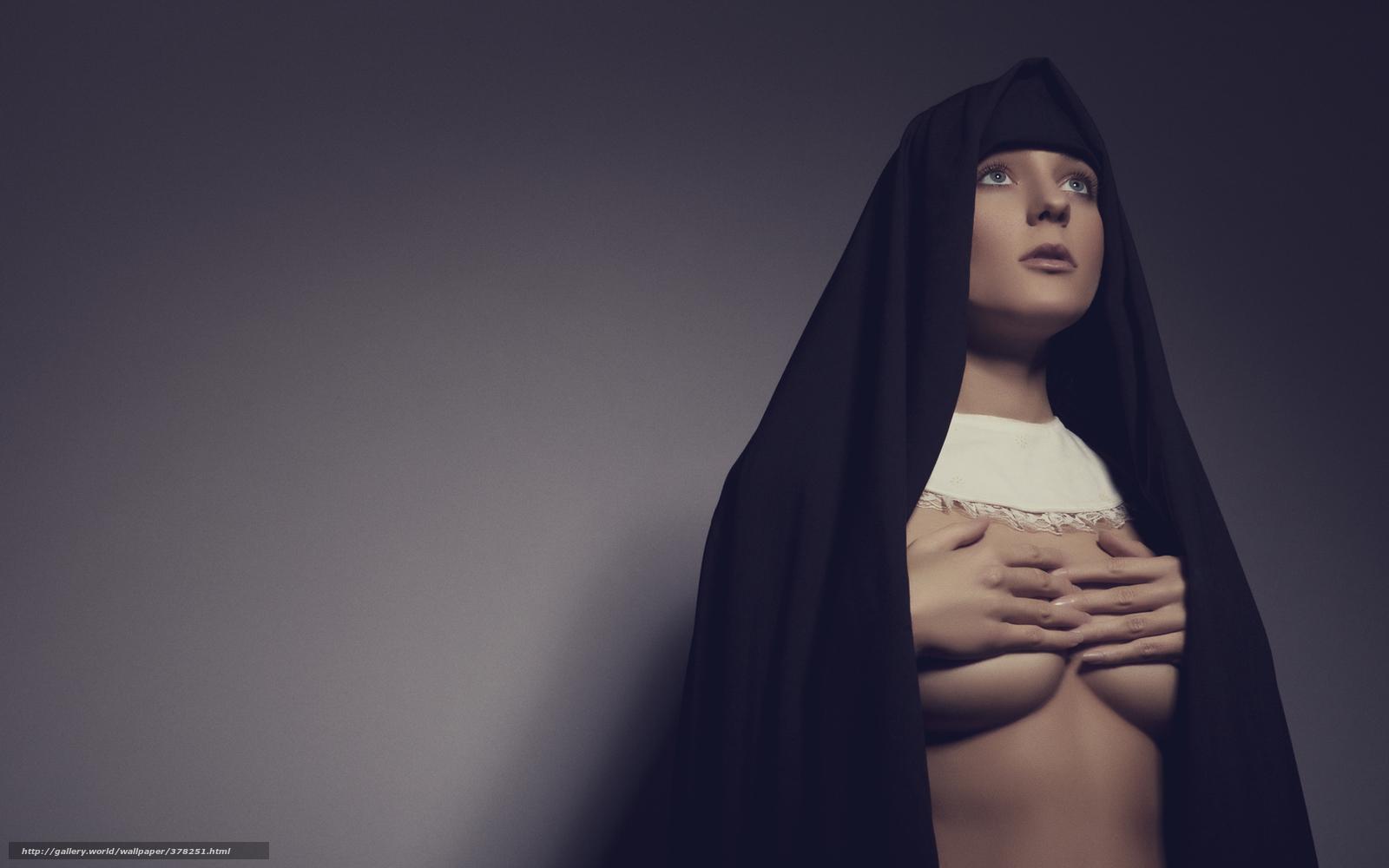 Развратные монашки с большими грудями 12 фотография