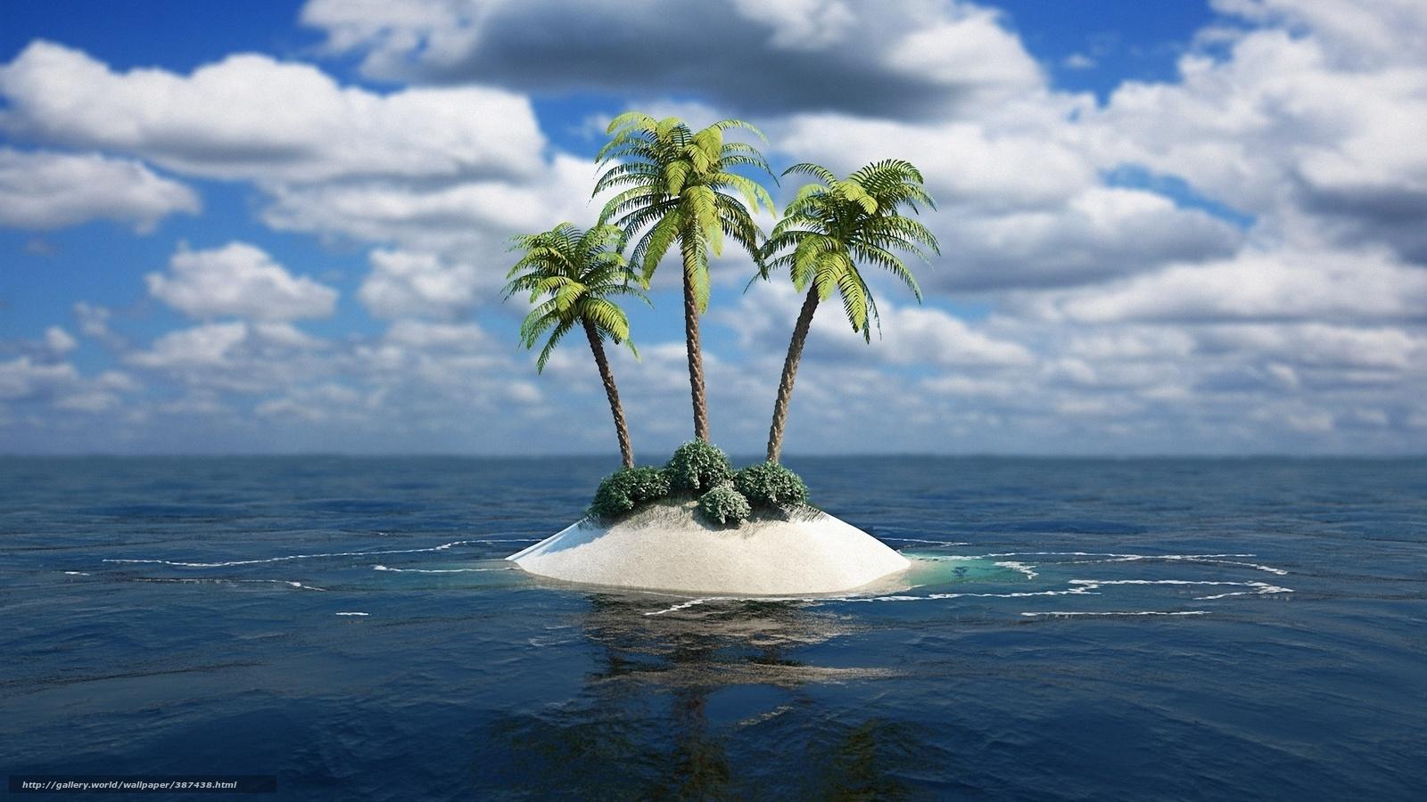 скачать море пальмы картинки