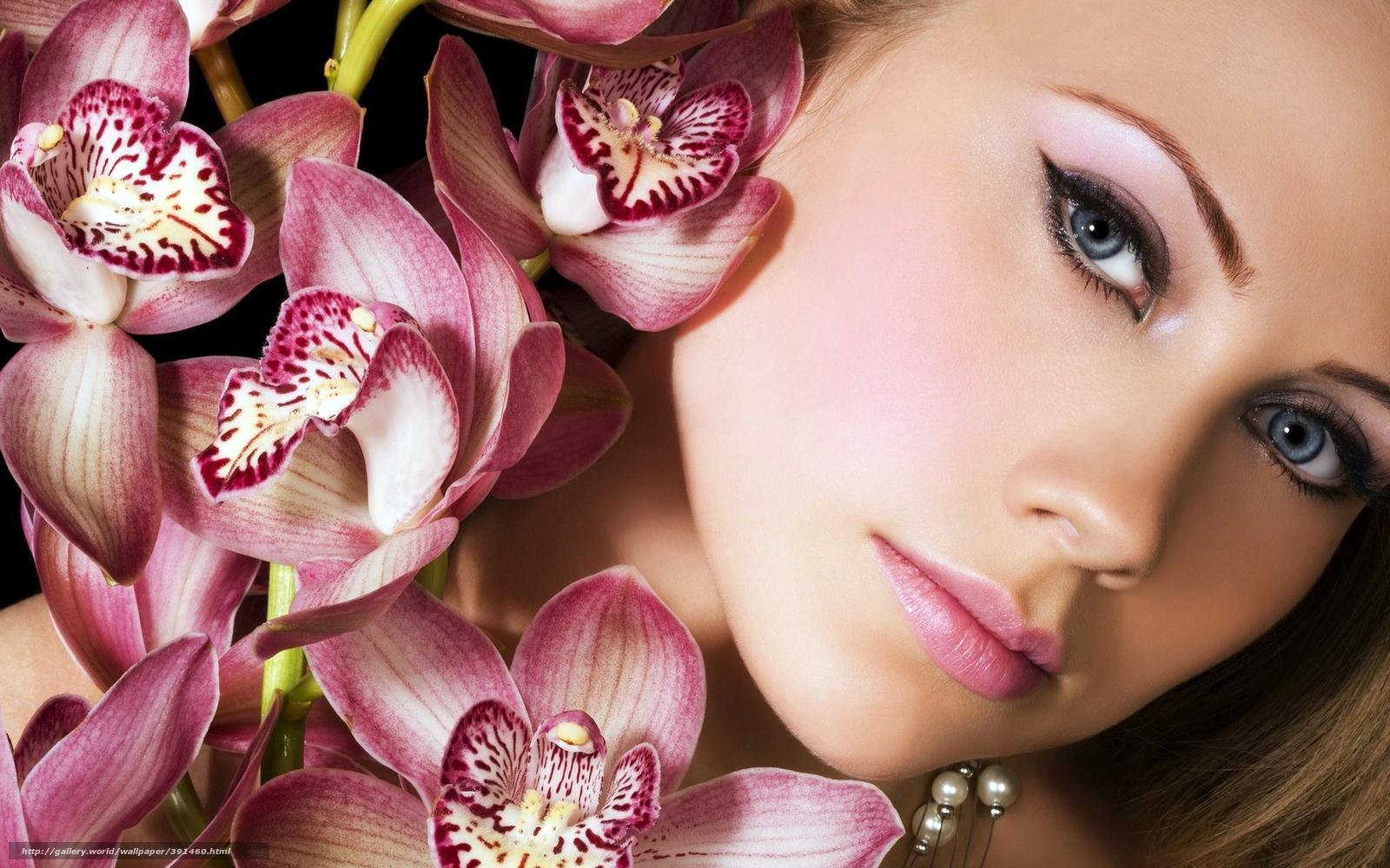 макияж цветы фото: