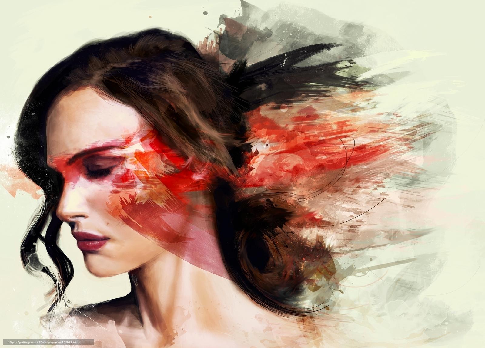 Рисунки девушек красками 17 фотография