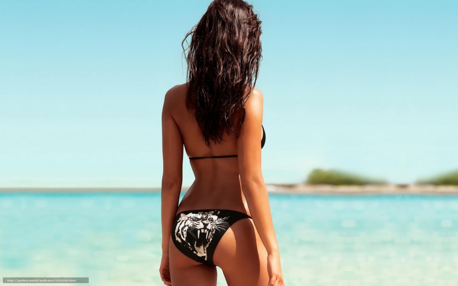 Красивые девушки на пляже фото спиной на аву в
