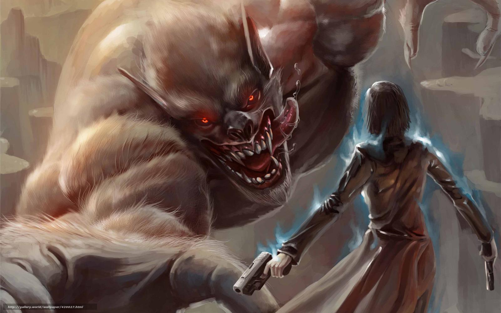 монстры напали на девушку