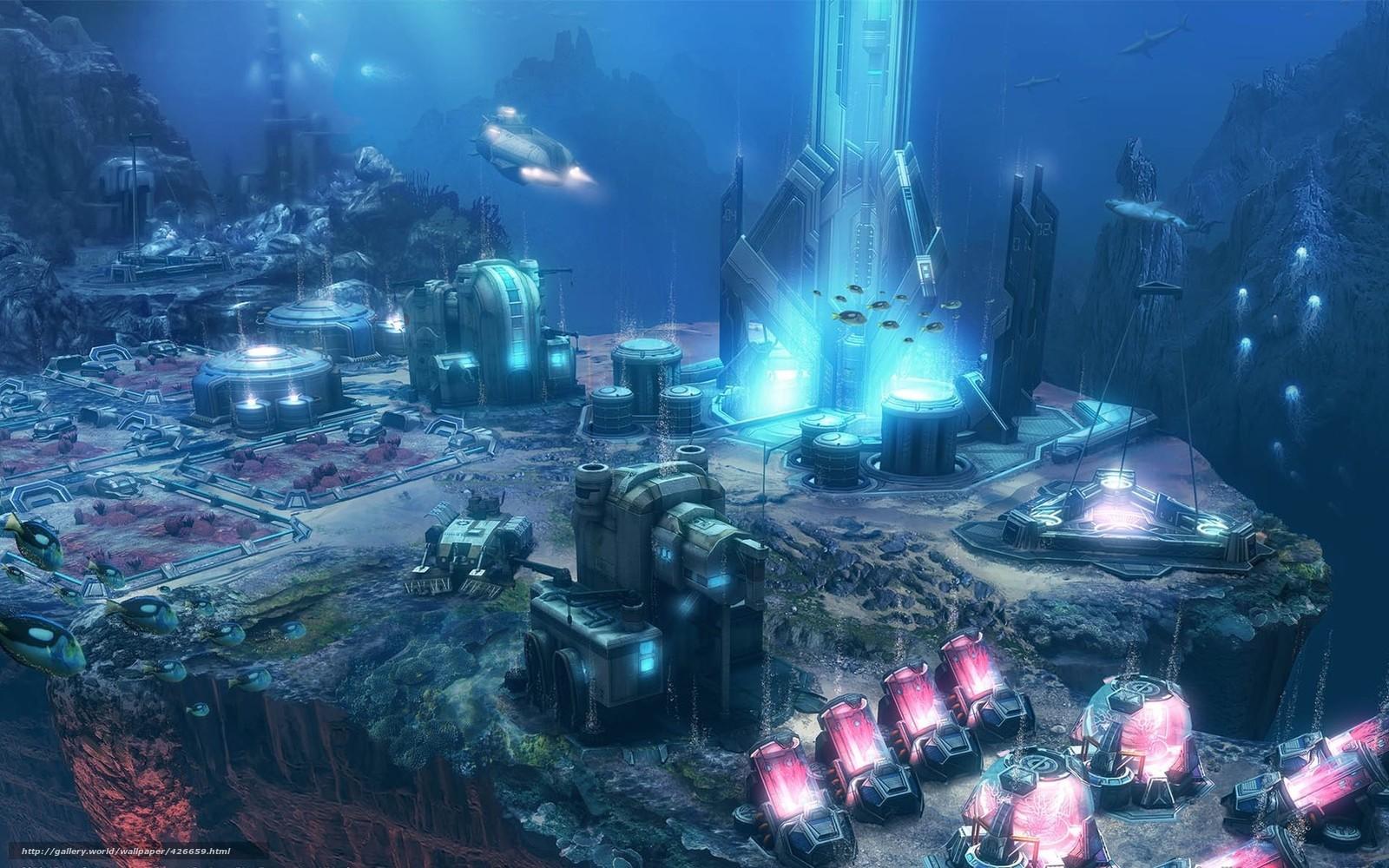 Океан вода подводный мир станция
