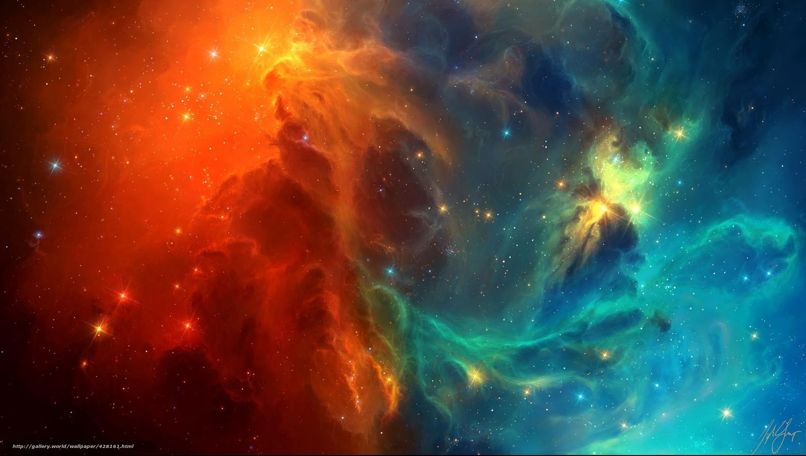 Арт космос туманность звезды