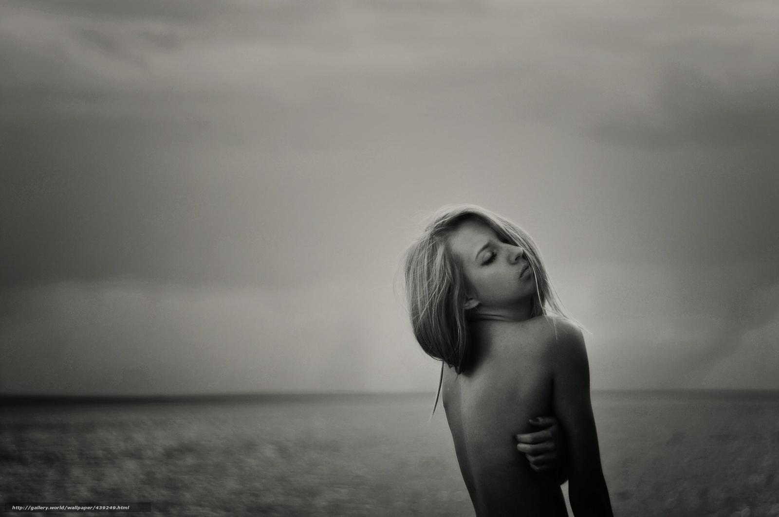 черно белые фотографии девушек: