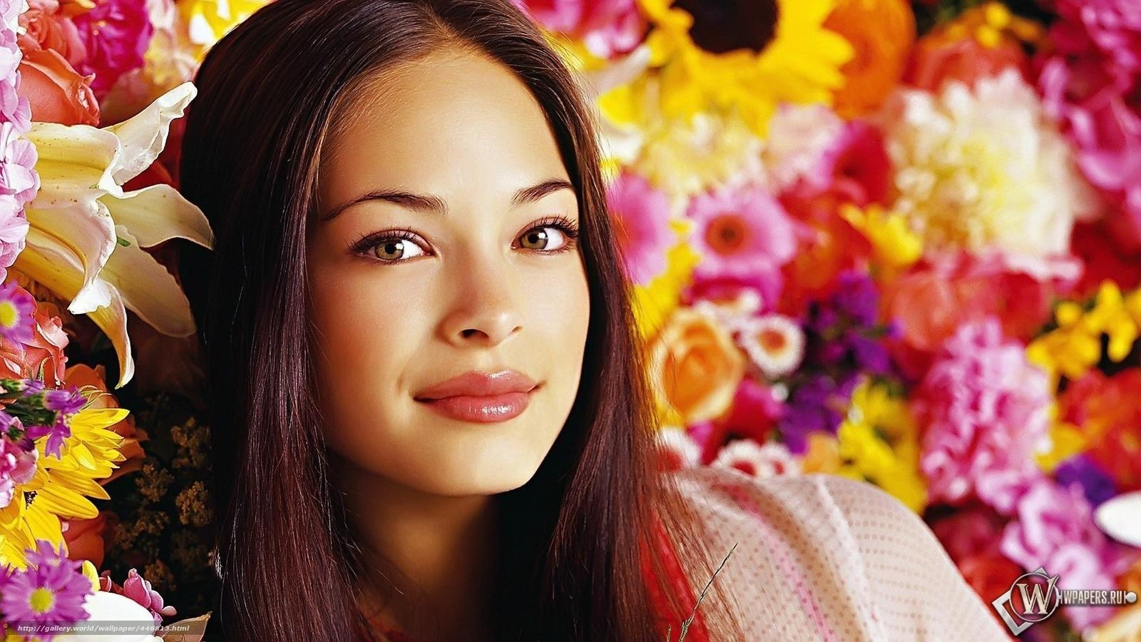 красивые картинки девушек с цветами: