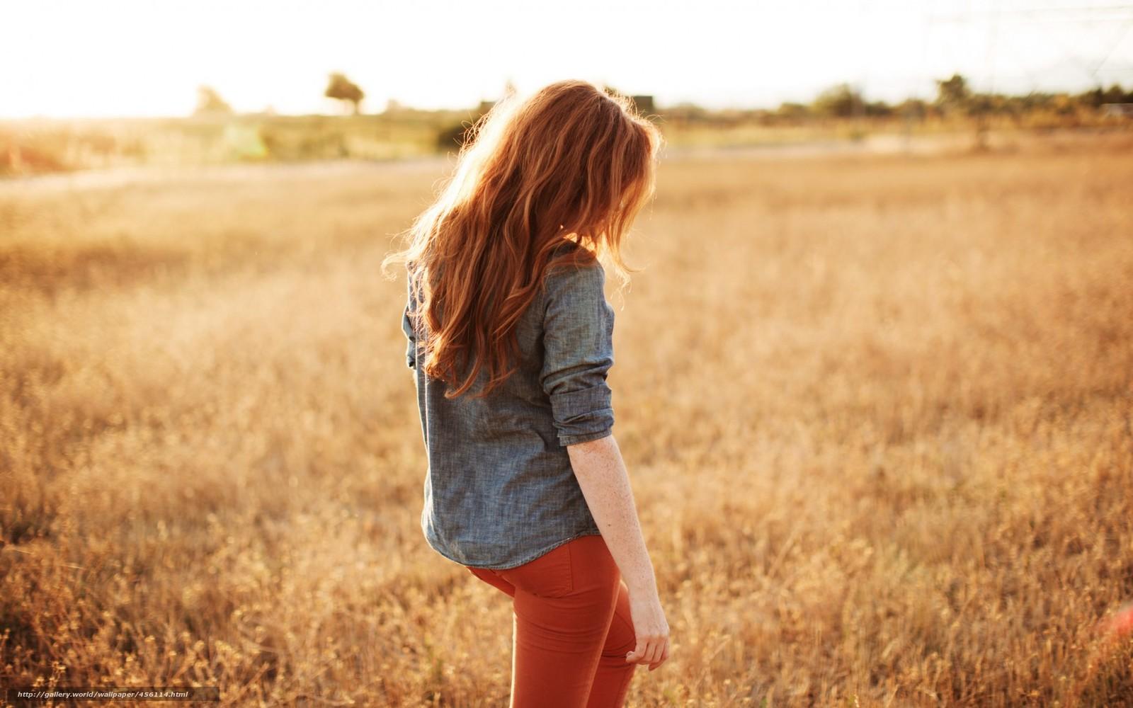 Фото рыжих девушек вид сзади 20 фотография