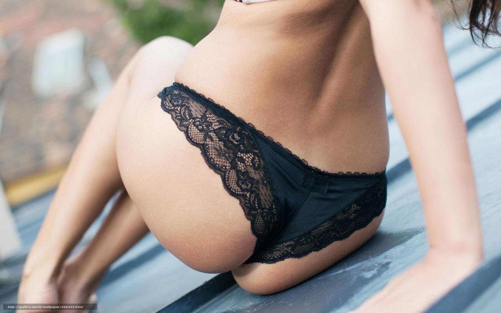 Чёрные трусики девушек 7 фотография