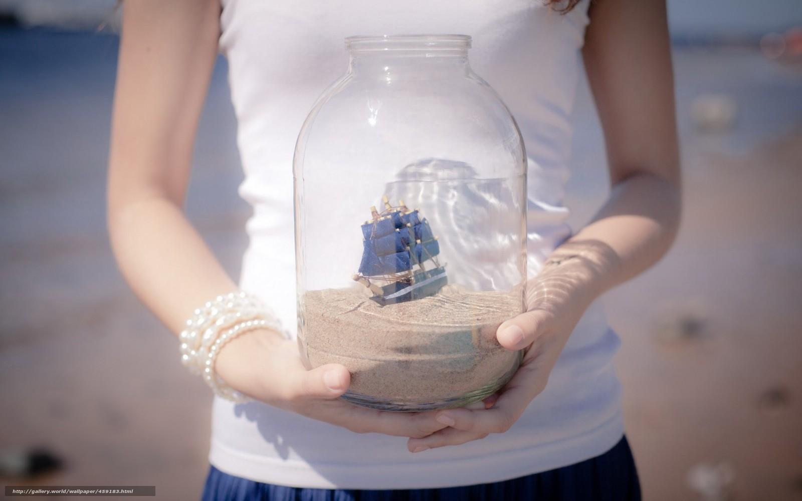 Кораблик в банке своими руками