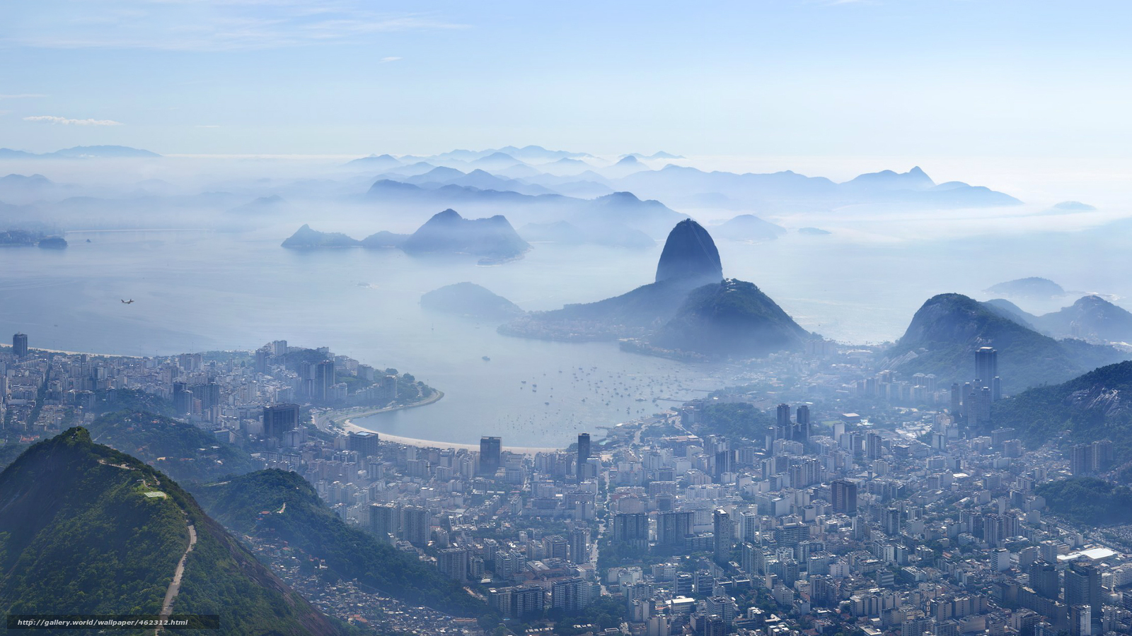 Рио-де-Жанейро, город, дымка