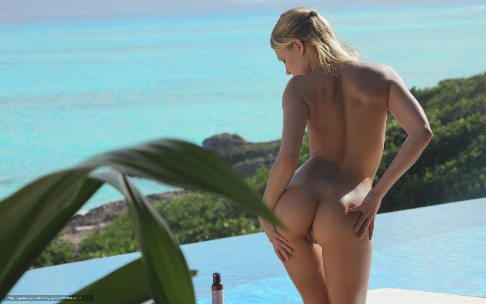 Фото попок блондинок сзади без лица у моря 5 фотография