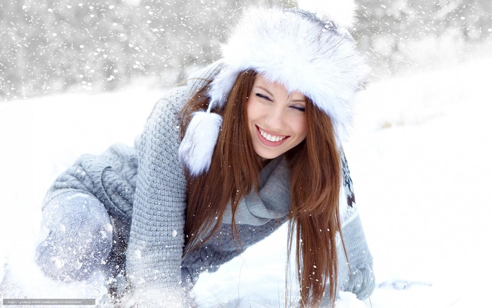 Фото девушек в снегу 15 фотография