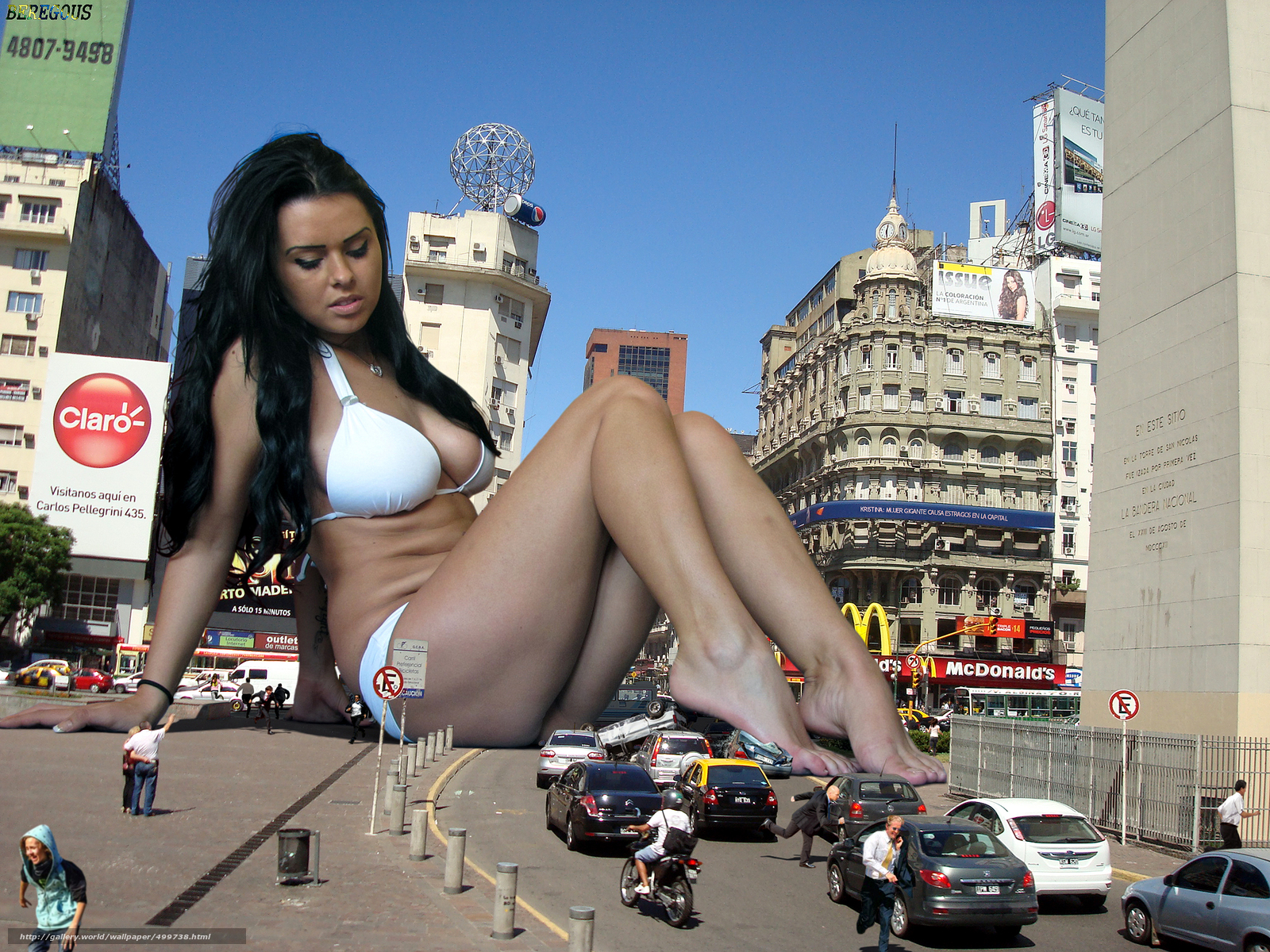 Giantess nude in the city hentia images