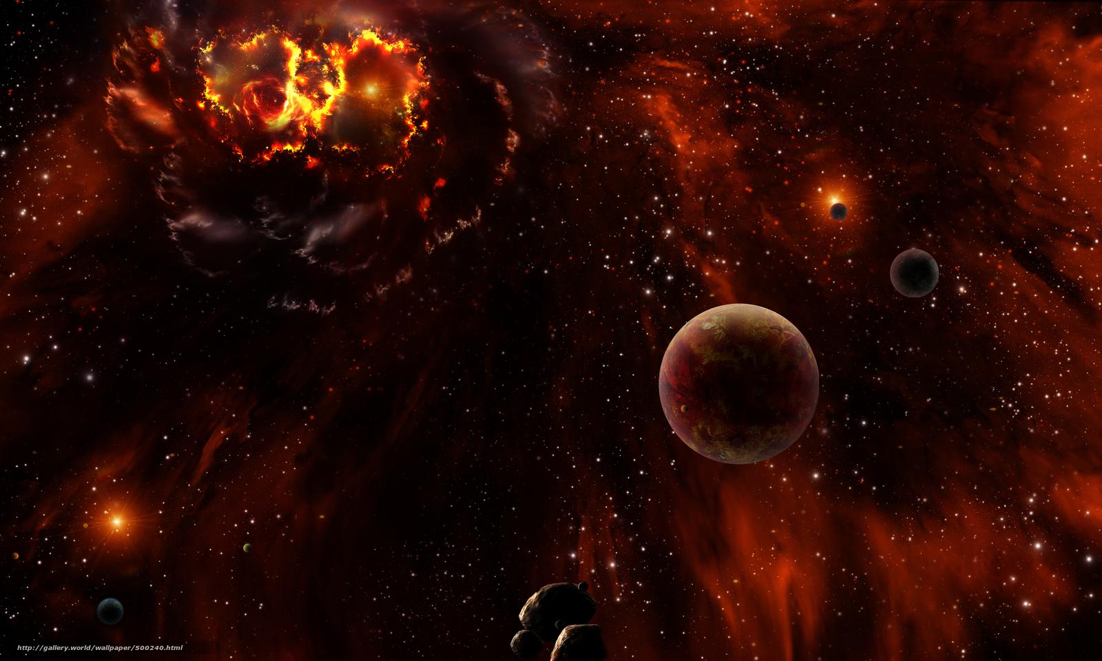 Обои космос 3d art
