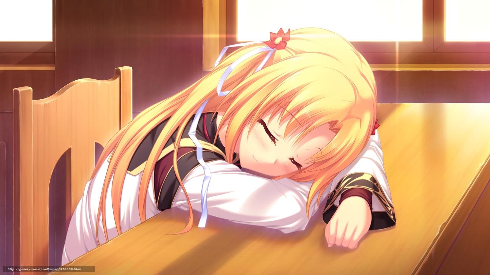 Спящие аниме девушки 4 фотография