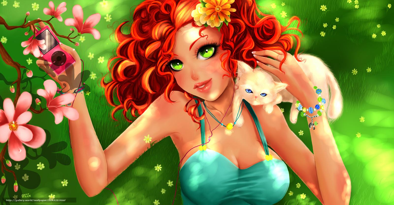 картинки аниме с зелёными глазами:
