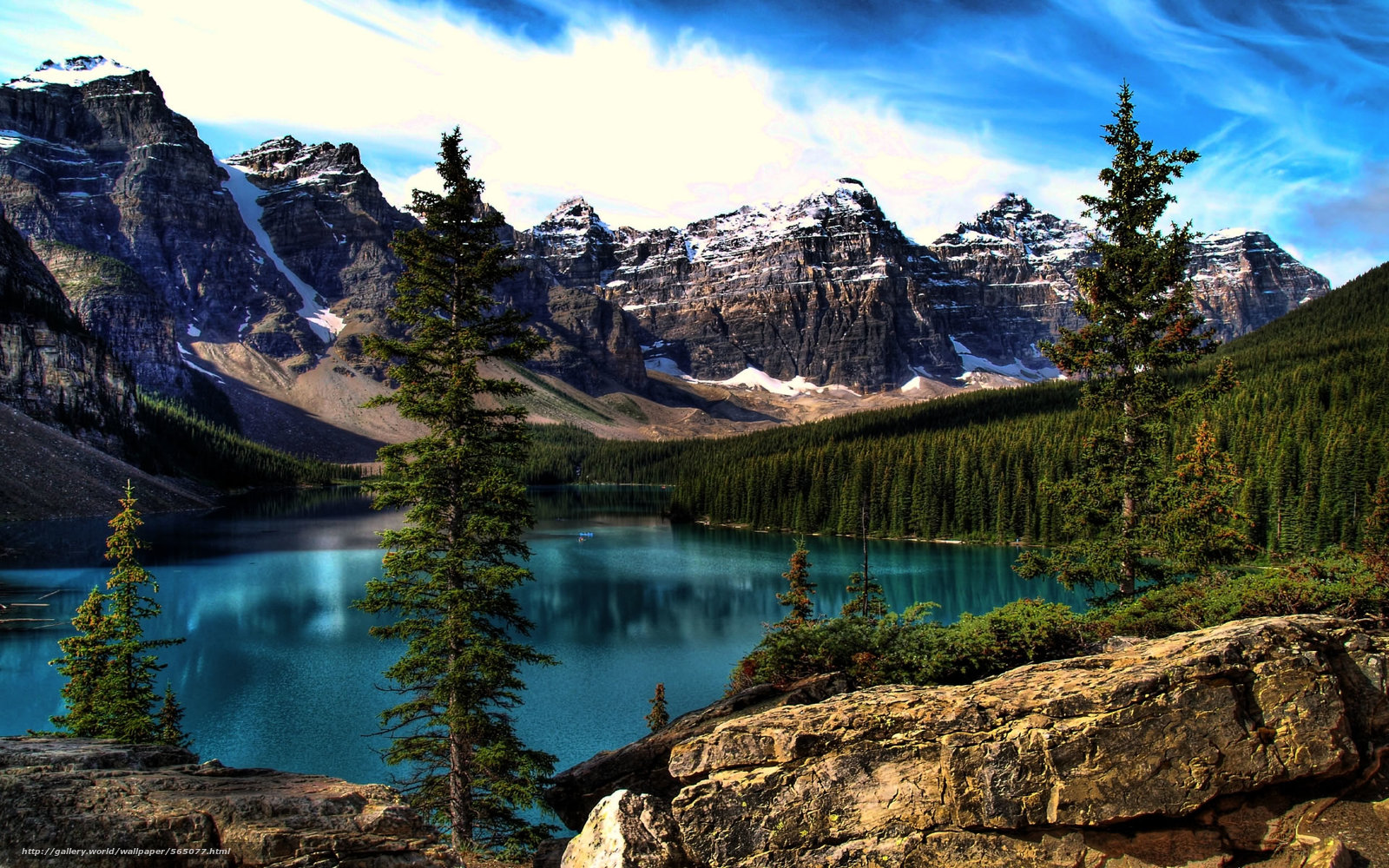 Moraine lake banff national park озеро горы пейзаж