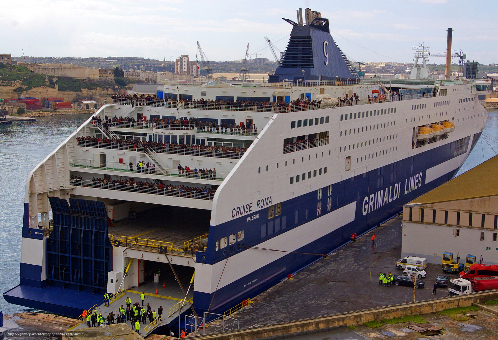 Grimaldi Lines, круиз на корабле Рома, мальта