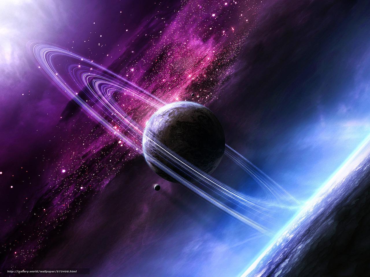 Космос планета сатурн небо звёзды