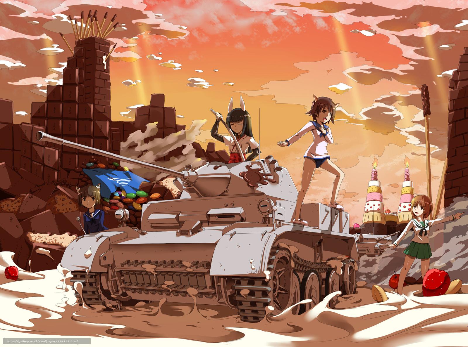 аниме девушки и танки: