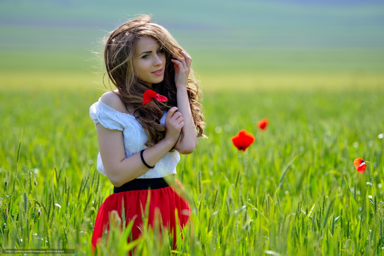 Русские красавицы в поле 6 фотография