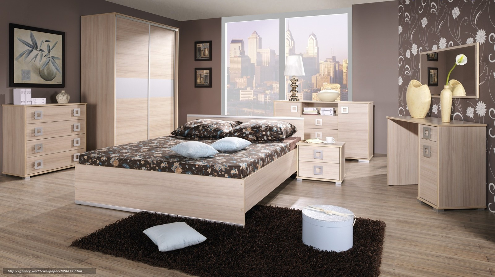Фото дизайна комнат с обоями