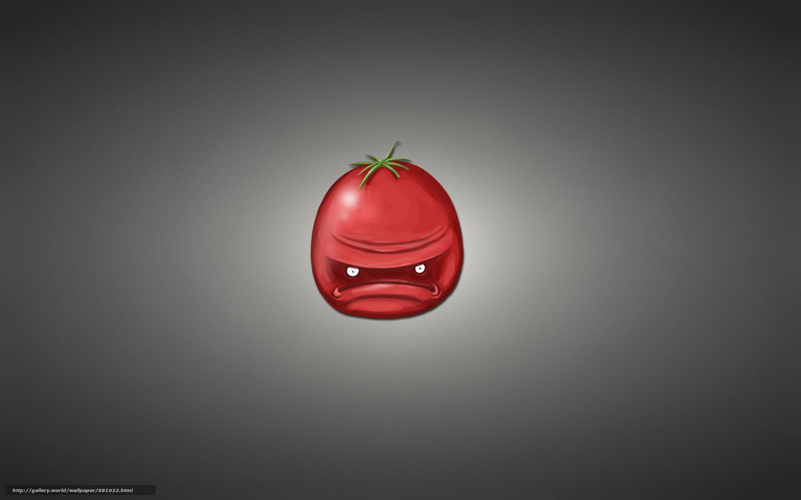 минимализм, красный, томат, темноватый фон, помидор, овощ